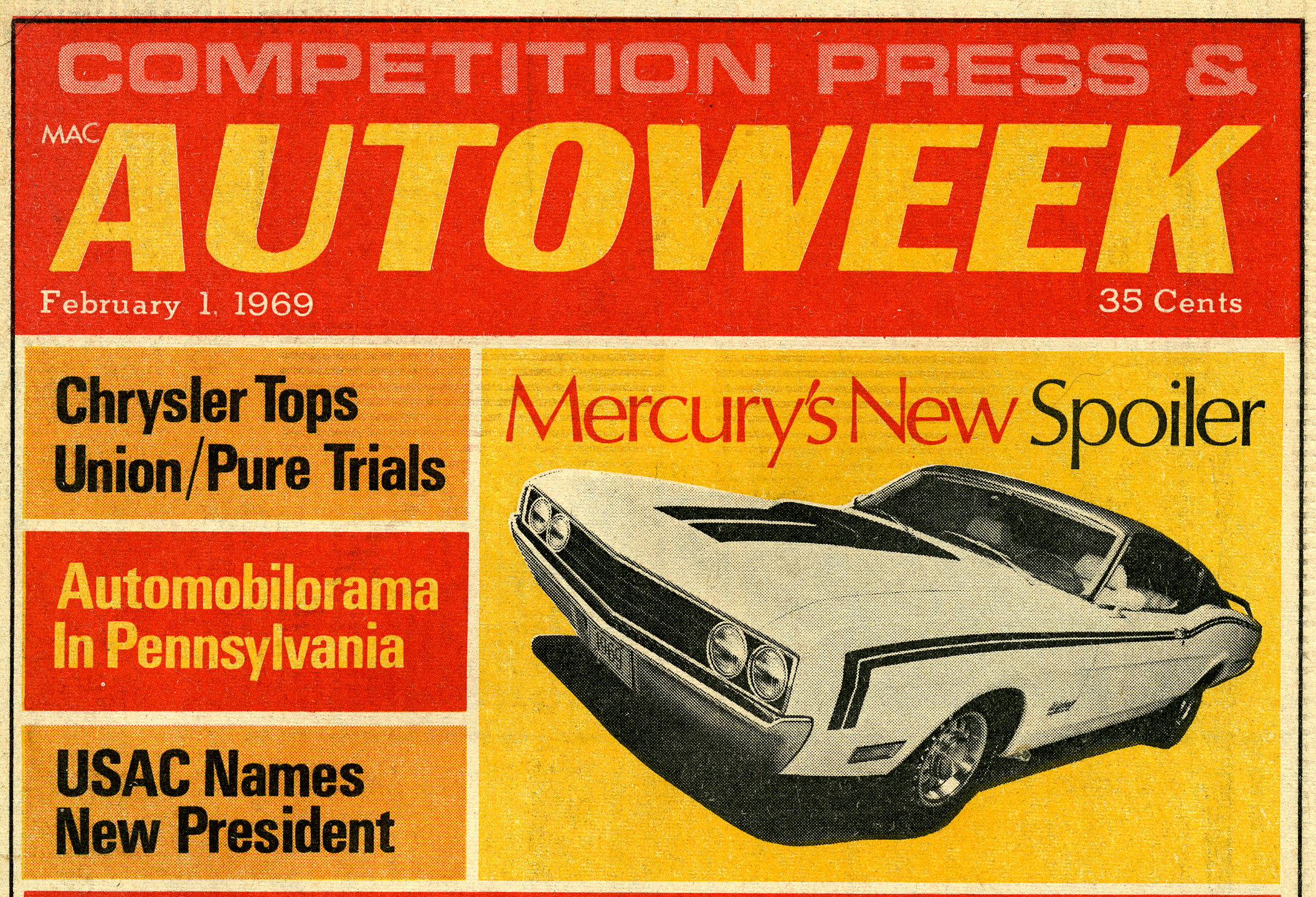Photo of Historical Spoiler II Article from Auto Week 1969