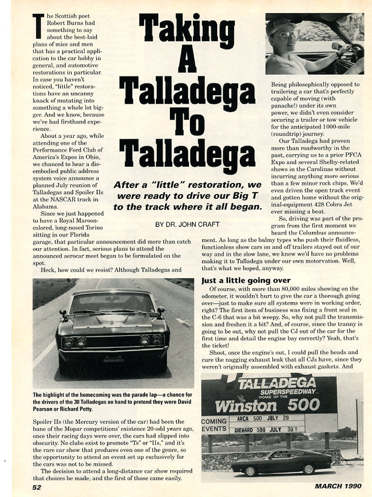 Photo of Taking a Talladega to Talladega by Dr. John Craft