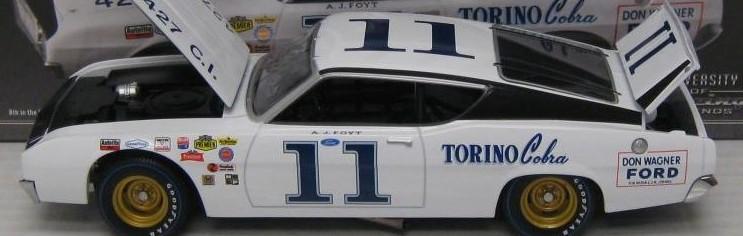 Photo of AJ Foyt AUTOGRAPHED Ford Talladega Diecast!
