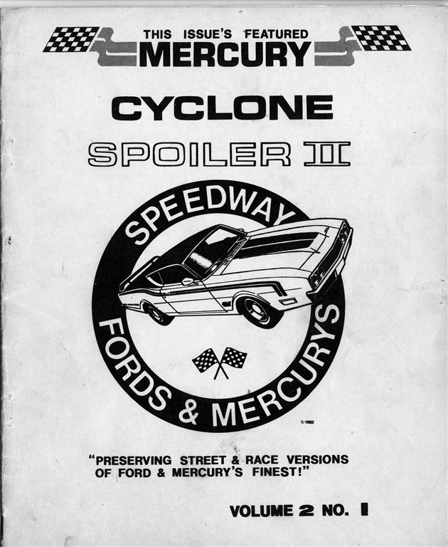 Photo of Speedway on 1969 Mercury Spoiler II; Part 1