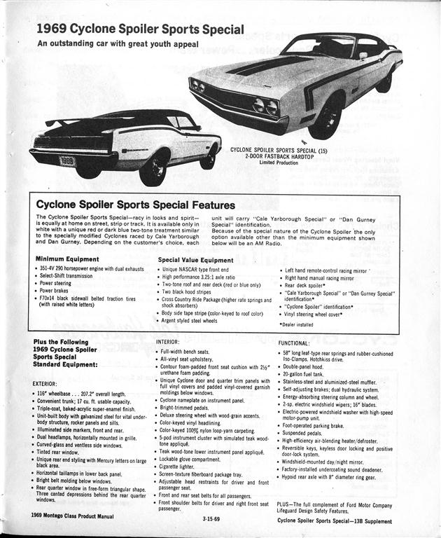 Photo of Ford and Mercurys Speedway 1969 Mercury Spoiler II; Part 3