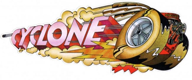 "Photo of Vintage ""Cyclone"" Competition Sticker"