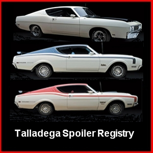 Photo of Smartphone Page for Talladega Spoiler Registry